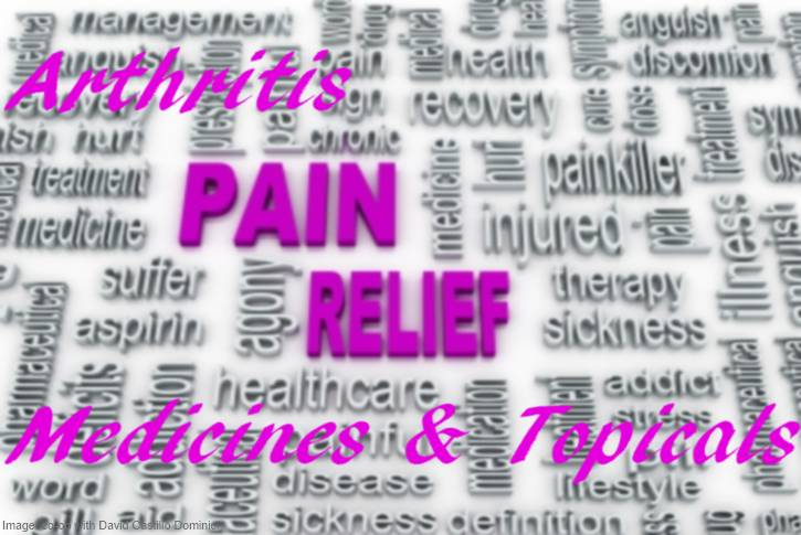 Arthritis Pain Relief with Medicines and Topicals