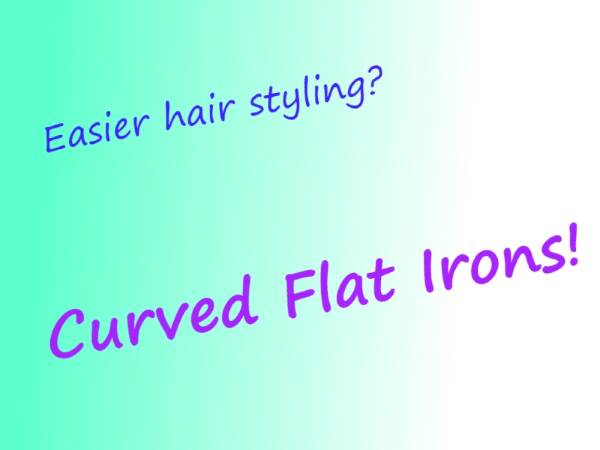 Curved Flat Iron for easier hair styling